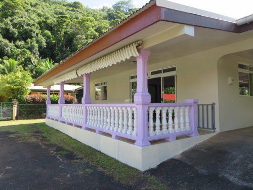 A louer maison F4 meublée/équipée – Vallée de Matatia – punaauia