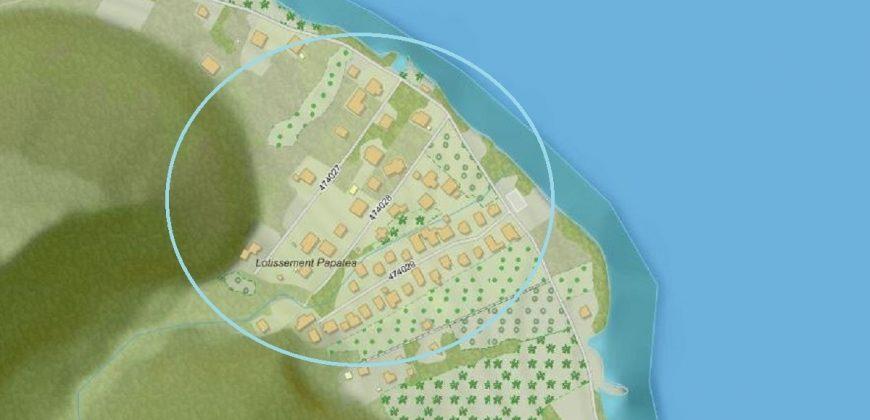 A vendre terrain de 1139M2 à Tautira
