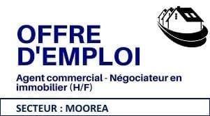 Recrutement conseiller immobilier (H/F) Secteur Moorea