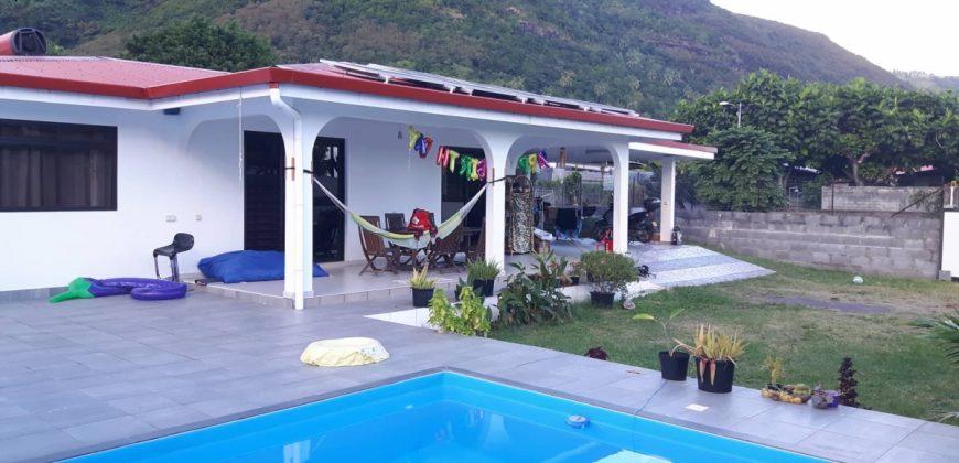 A louer maison F5 avec piscine – PAEA