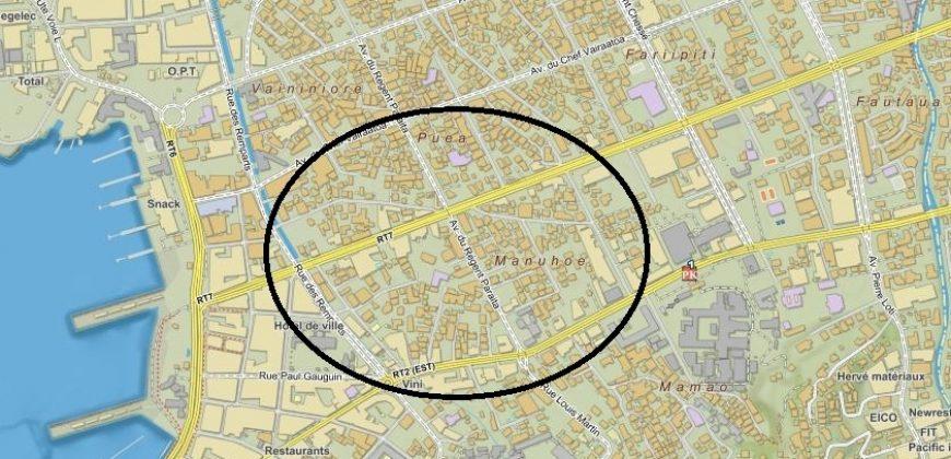 A vendre terrain de 670m2 + maison F3 à rénover – Proche centre ville – PAPEETE