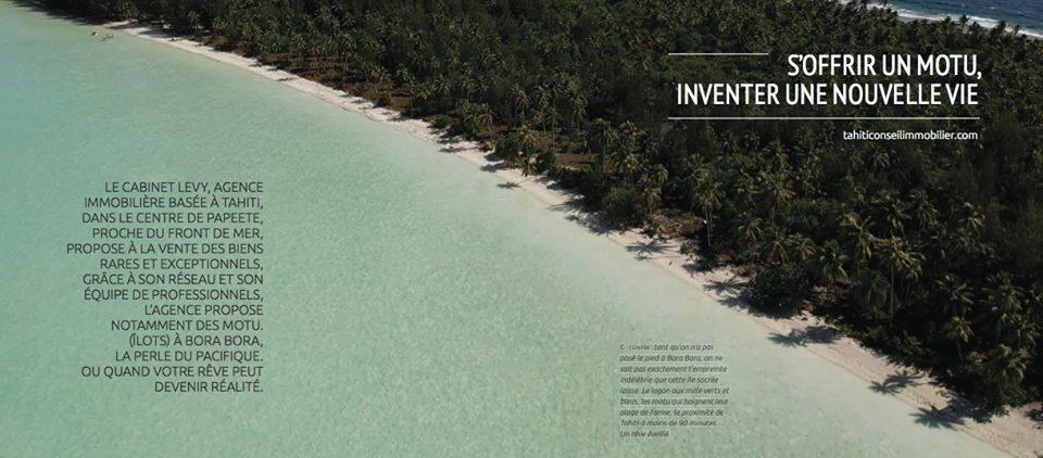 -Investir à Bora Bora et dans les îles en Polynésie Française- Immobilier de Luxe - Prestige - Cabinet Levy Tahiti