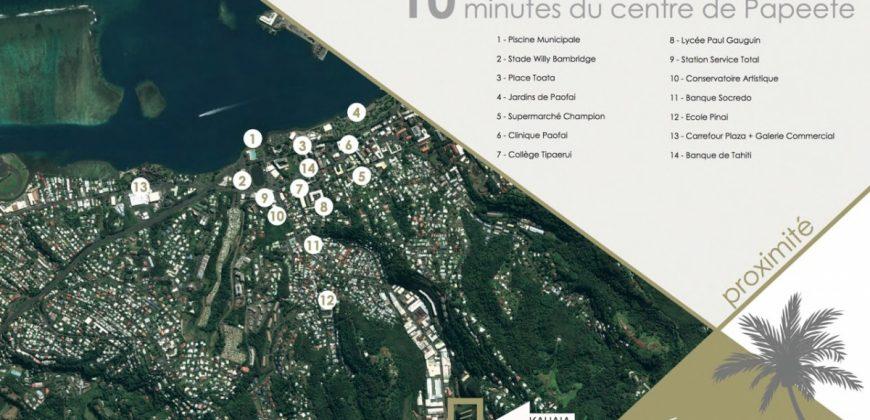 RÉSIDENCE KAHAIA – APPARTEMENTS F2 NEUFS (VEFA) – PIC VERT- PAPEETE