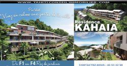 RÉSIDENCE KAHAIA – APPARTEMENTS NEUFS (EN VEFA) – PIC VERT- PAPEETE