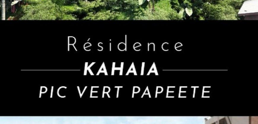 RÉSIDENCE KAHAIA – APPARTEMENTS F1 NEUFS (VEFA) – PIC VERT- PAPEETE