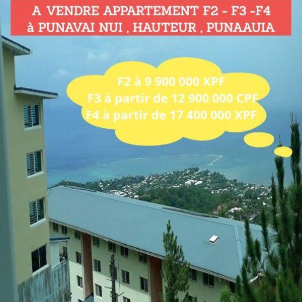 A vendre Plusieurs appartements rénovés (Logements intermédiaires) hauteurs Punavai nui, à Punaauia (Journée Portes ouvertes le Samedi 2 Novembre de 8H à 15H)