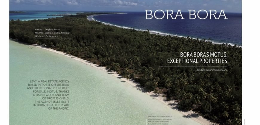 Beautiful Private island Bora Bora For sell