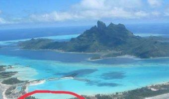 Terrain Magnifique plage de sable blanc voisin du st Regis Bora Bora