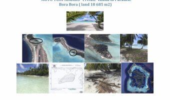 Private Island in Bora Bora, Unique , Prestige ,white sand Beach
