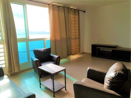 A louer appartement F2 (meublé/équipé) sur les hauteurs de Punavai nui à Punaauia (Vue Mer )